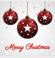 merry christmas ball background vector image