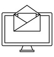 monitor computer desktop with envelope vector image vector image