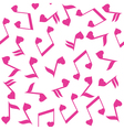 music note heart pink vector image