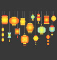 night scene of traditional chinese paper lantern vector image vector image