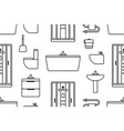 pattern with elements for bathroom vector image vector image