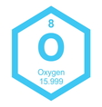 Periodic table oxygen vector image vector image