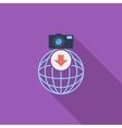 Photo download single icon vector image vector image
