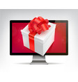 realistic 3d concept for gift vector image vector image