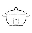 rice cooker kitchen utensil vector image