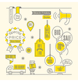 Set of Sale tags Label shopping design elements vector image vector image
