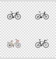set of transport realistic symbols with triathlon vector image vector image