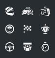 set rally icons vector image vector image