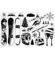 set snowboard elements vector image