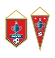 set soccer pennants isolated white vector image vector image