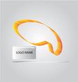 SHAPE CURVE LOGO vector image vector image