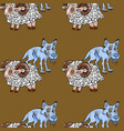 sheep and wolves seamless pattern vector image vector image