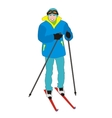 Skier amateur vector image