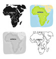 territory of africaafrican safari single icon in vector image vector image