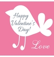 Valentine day postcard with cute bird shape vector image
