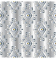 white tribal striped geometric 3d seamless pattern vector image vector image
