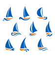 Yachting and regatta symbols vector image vector image