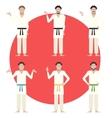 Set of Karate men vector image