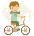 BOY ON A BYCICLE vector image