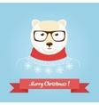 Christmas cute forest bear head logo vector image