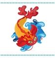 Japanese koi fish vector image
