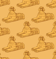 Sketch Sphinx monument in vintage style vector image