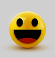 3d smiling ball sign emoticon icon design for vector image vector image