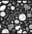a sport icon sketch pattern hand drawn vector image vector image