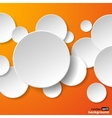 Abstract paper speech bubble vector image