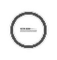 abstract round halftone dotted frame vector image vector image