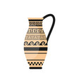 ancient greek one hand vase with wave ornament vector image vector image