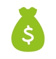 bag money flat line icon vector image