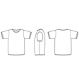 basic unisex tshirt template vector image vector image