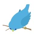 Bend down blue bird vector image vector image