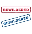 Bewildered Rubber Stamps vector image vector image