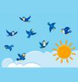 birds on the sky vector image