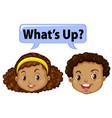 Boy and girl saying hello vector image