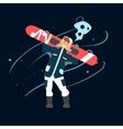 Boy Holding Snowboard vector image vector image