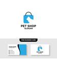 cat logo template free business card mockup vector image vector image
