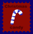 christmas candy on red background vector image