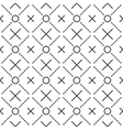 Circles grid stripped seamless pattern vector image vector image