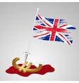 color united kingdom flag euro killing eps10 vector image vector image