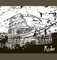 colosseum sketch hand drawn ink spots vector image vector image