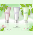cosmetic tube packaging vector image