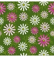 Cosmos flowers field seamless pattern