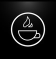 cup of hot drink logo on a black background vector image