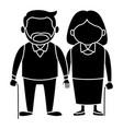 cute grandparents couple cartoon vector image vector image