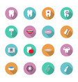 dental and teeth health in flat style icon set vector image vector image