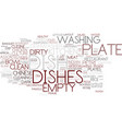 dish word cloud concept vector image vector image
