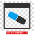 Drugs Capsule Calendar Page Eps Icon vector image vector image